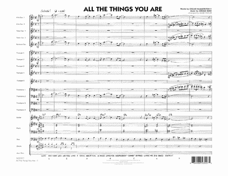 All The Things You Are - Conductor Score (Full Score)