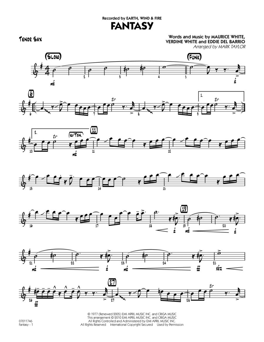 Fantasy - Tenor Sax