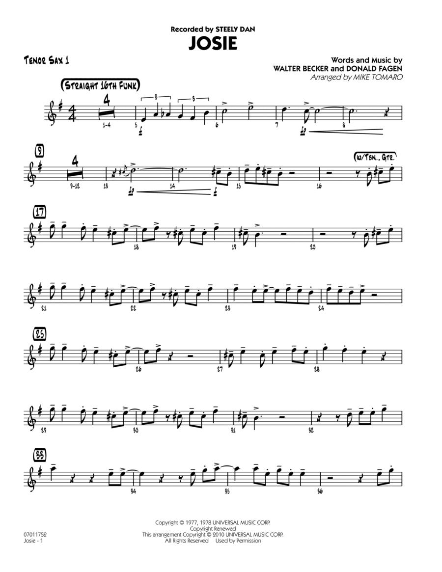 Josie - Tenor Sax 1