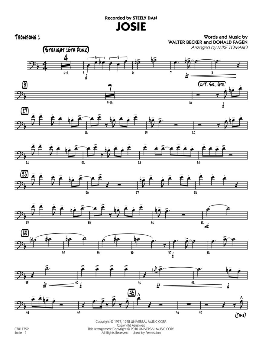 Josie - Trombone 1