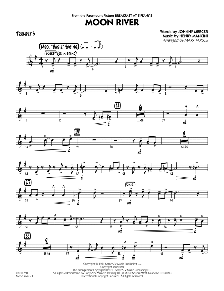Moon River - Trumpet 3
