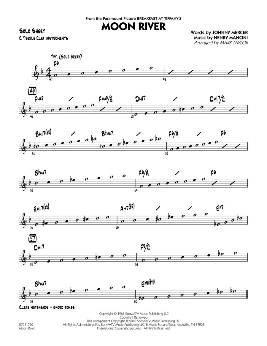 Moon River - C Solo Sheet