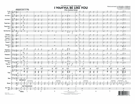 I Wan'na Be Like You (The Monkey Song) - Conductor Score (Full Score)