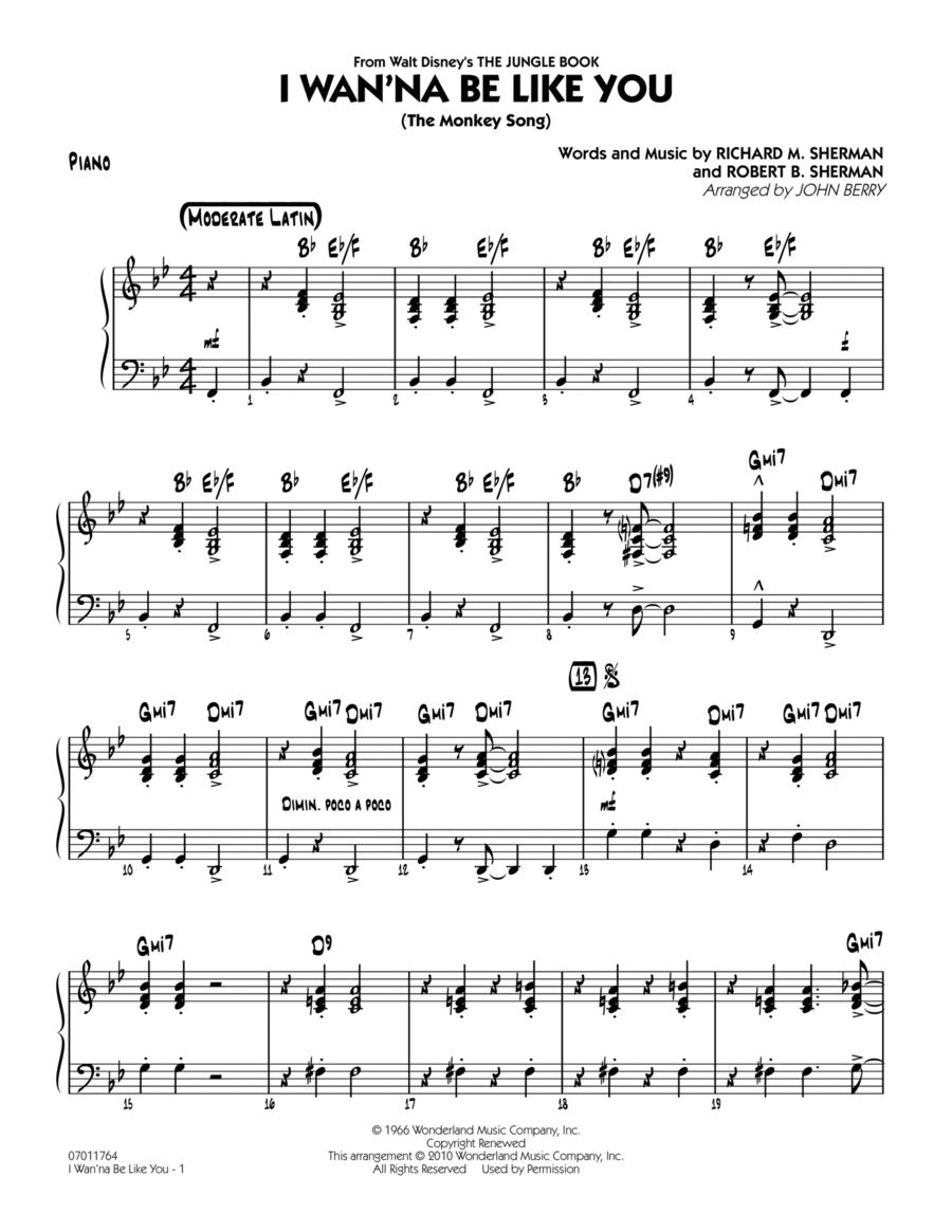 I Wan'na Be Like You (The Monkey Song) - Piano