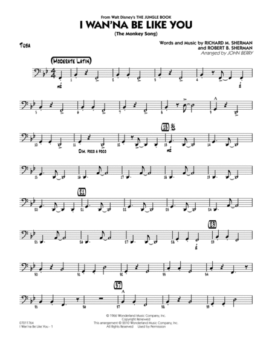 I Wan'na Be Like You (The Monkey Song) - Tuba