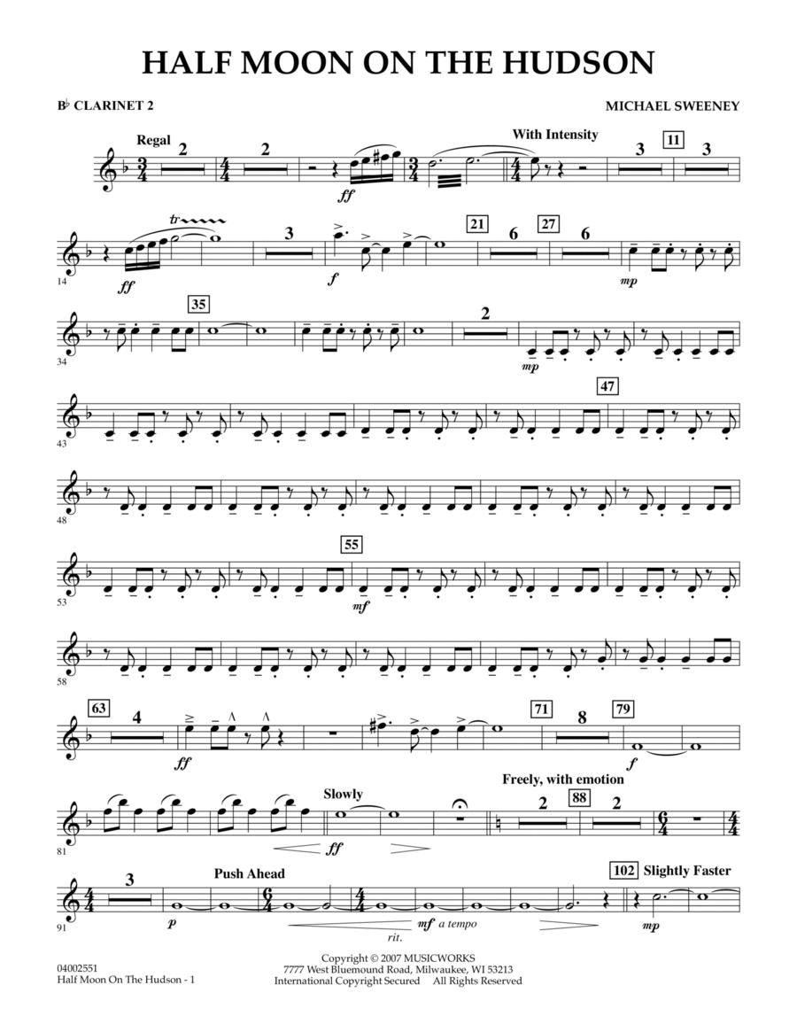 Half Moon On The Hudson - Bb Clarinet 2