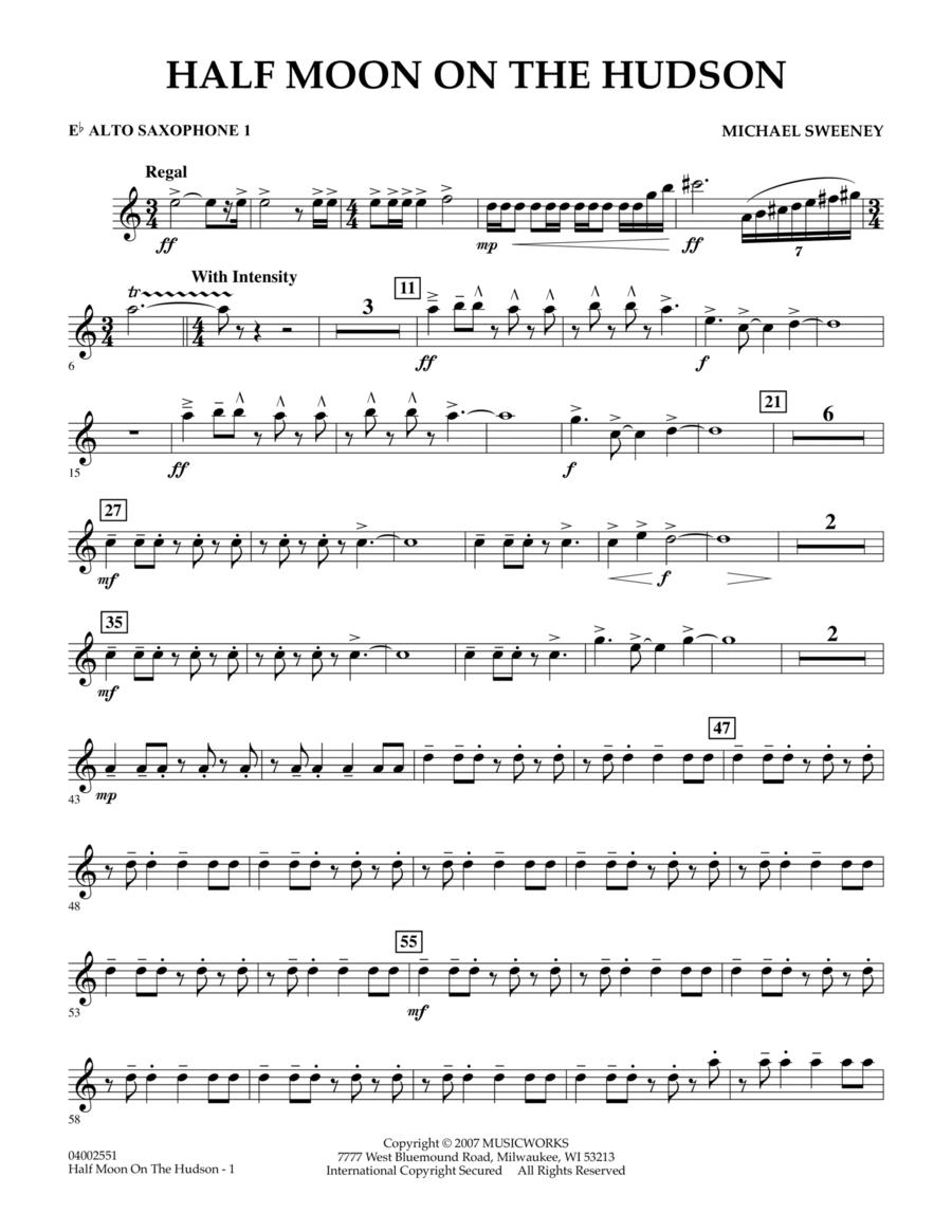 Half Moon On The Hudson - Eb Alto Saxophone 1