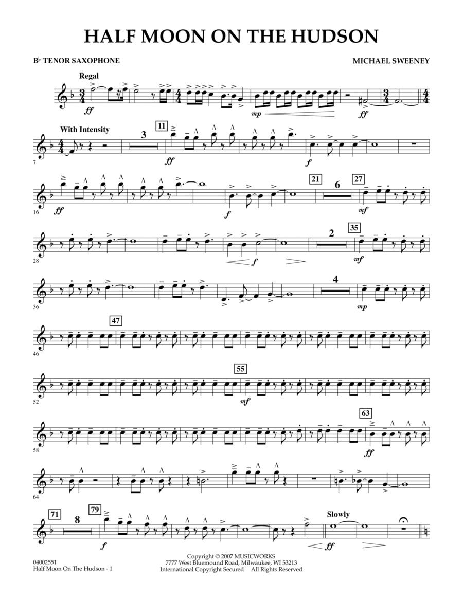 Half Moon On The Hudson - Bb Tenor Saxophone