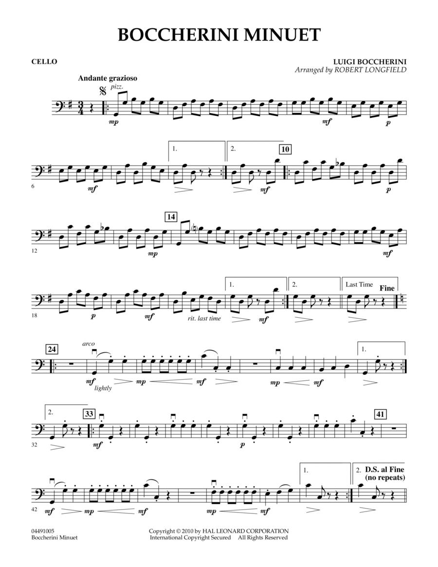 Boccherini Minuet - Cello