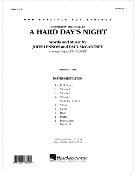 A Hard Day's Night - Full Score