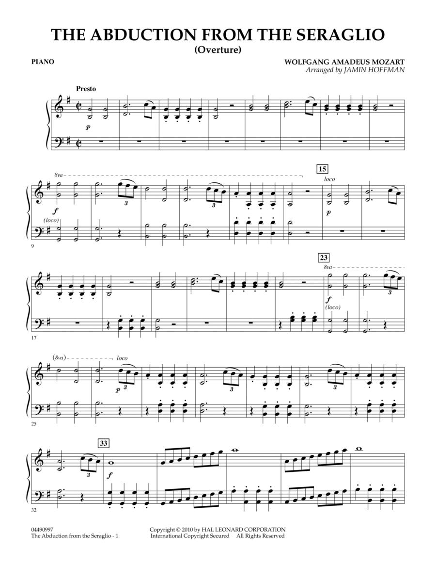 The Abduction From The Seraglio (Overture) - Piano