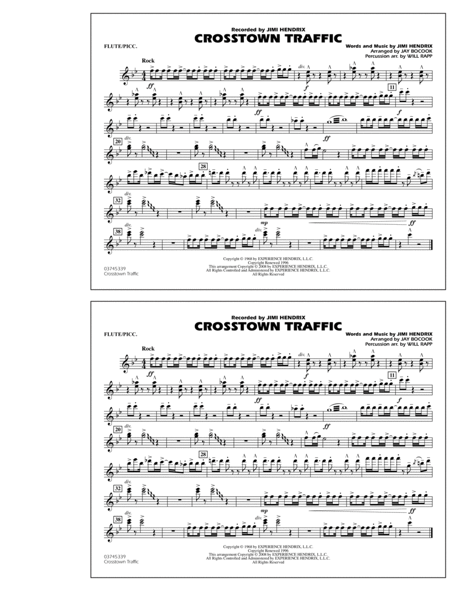 Crosstown Traffic - Flute/Piccolo