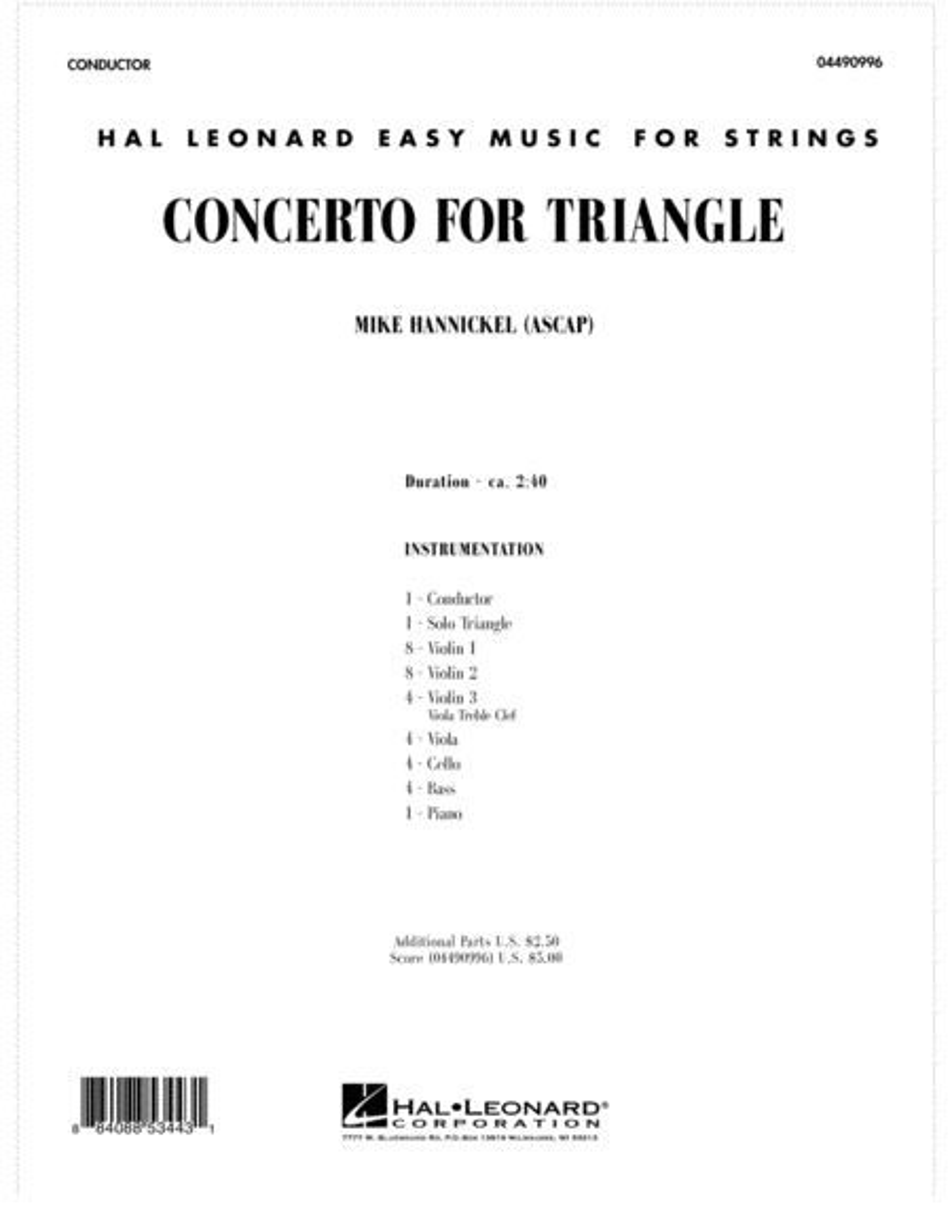 Concerto For Triangle - Full Score