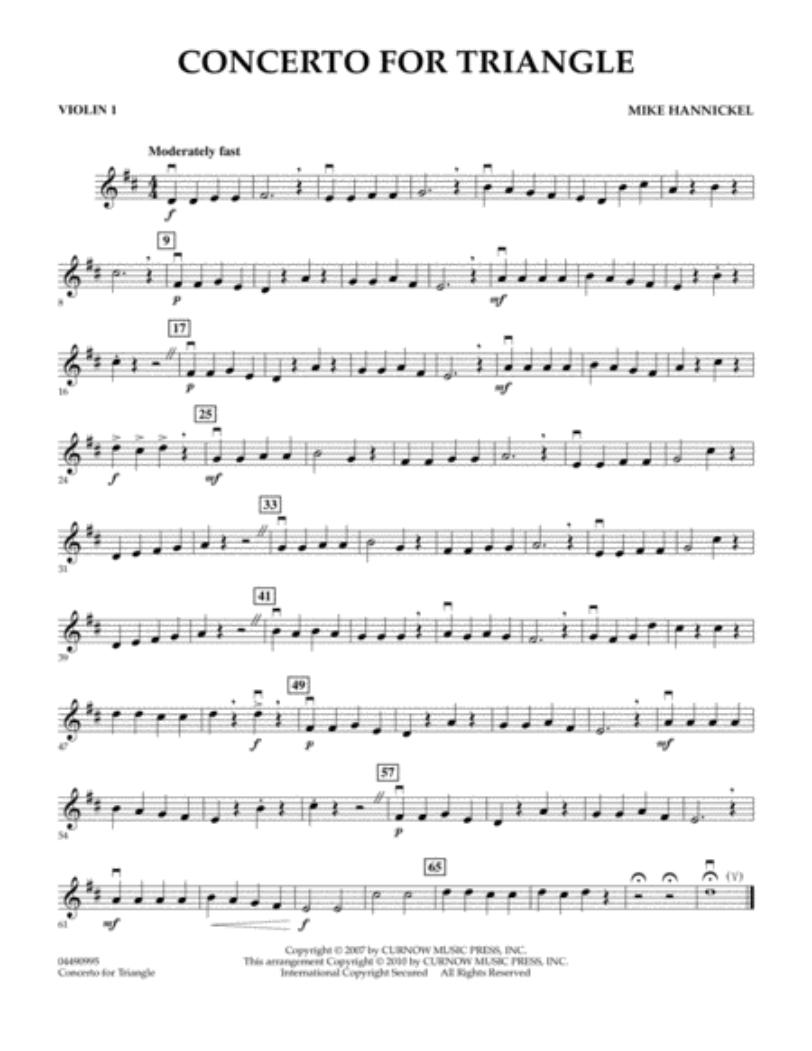 Concerto For Triangle - Violin 1