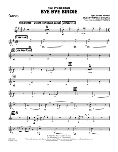 Bye Bye Birdie (w/ opt. Vocal) - Trumpet 2