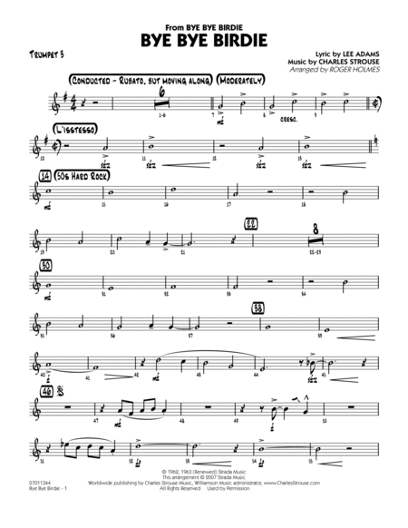 Bye Bye Birdie (w/ opt. Vocal) - Trumpet 3