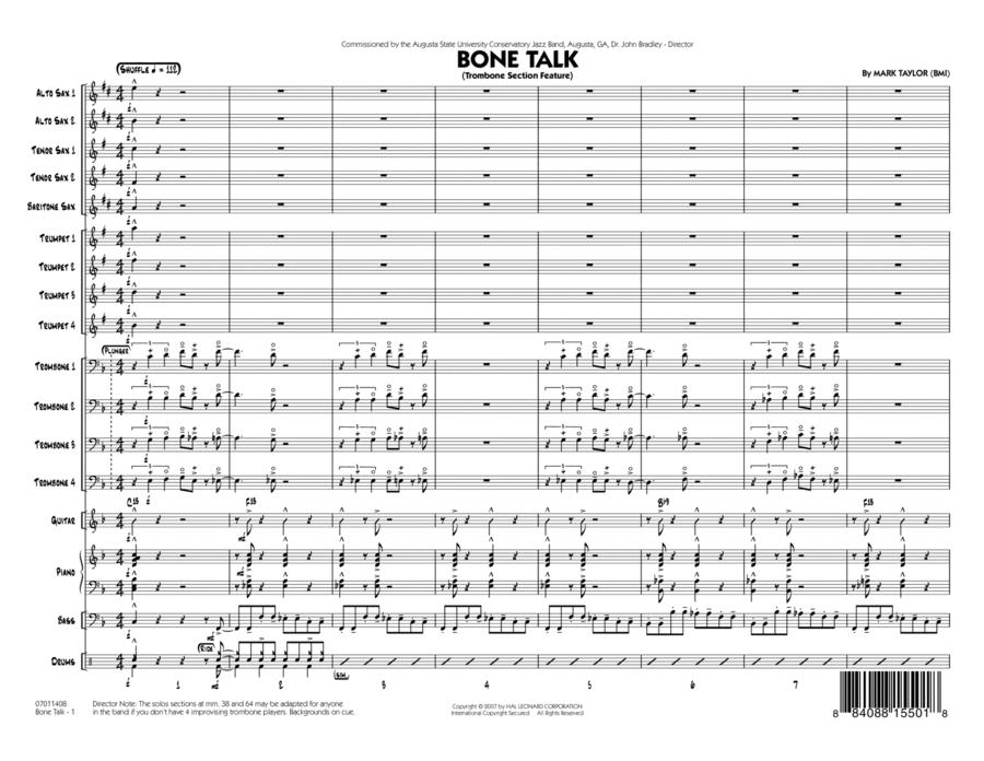 Bone Talk (Trombone Section Feature) - Full Score