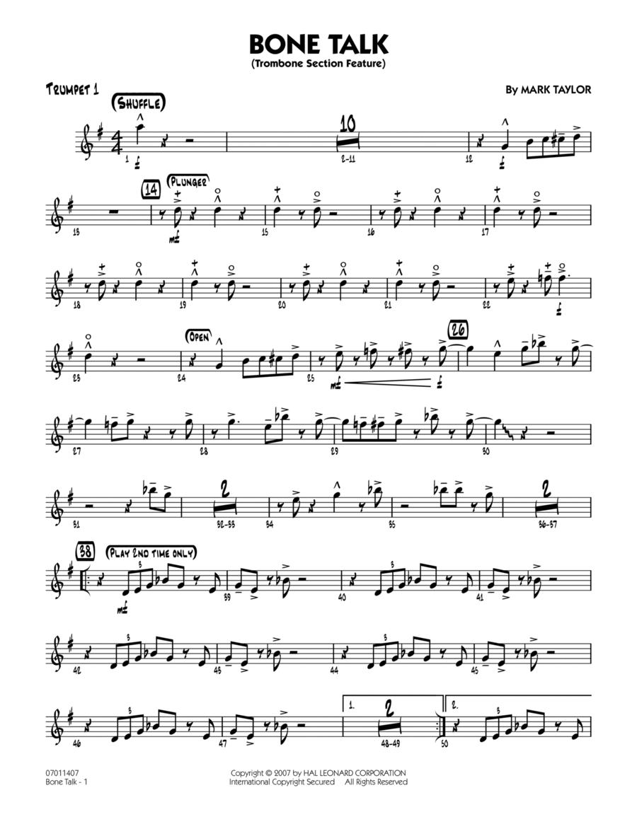 Bone Talk (Trombone Section Feature) - Trumpet 1