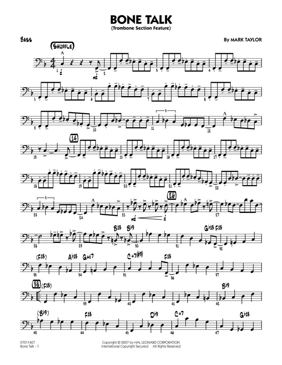 Bone Talk (Trombone Section Feature) - Bass