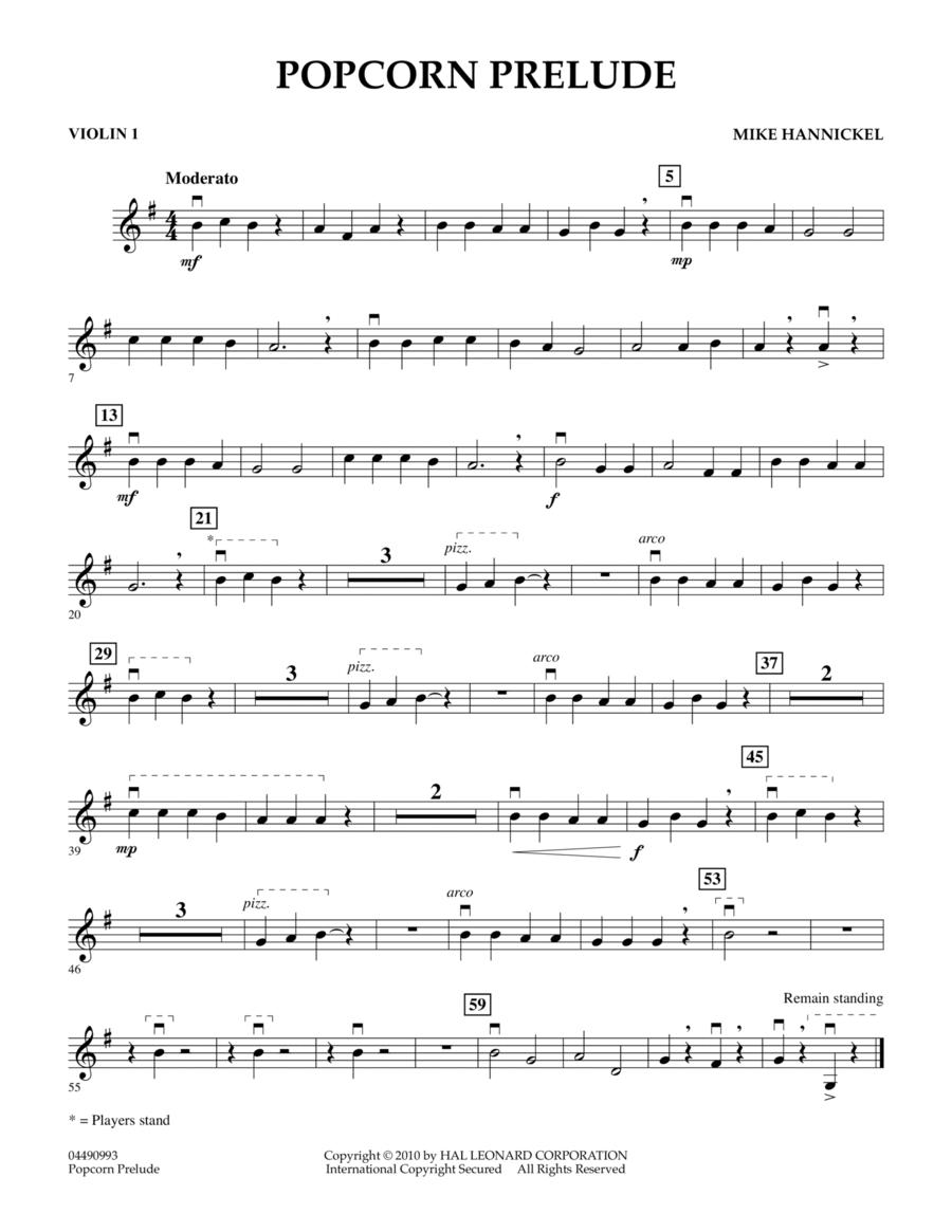 Popcorn Prelude - Violin 1