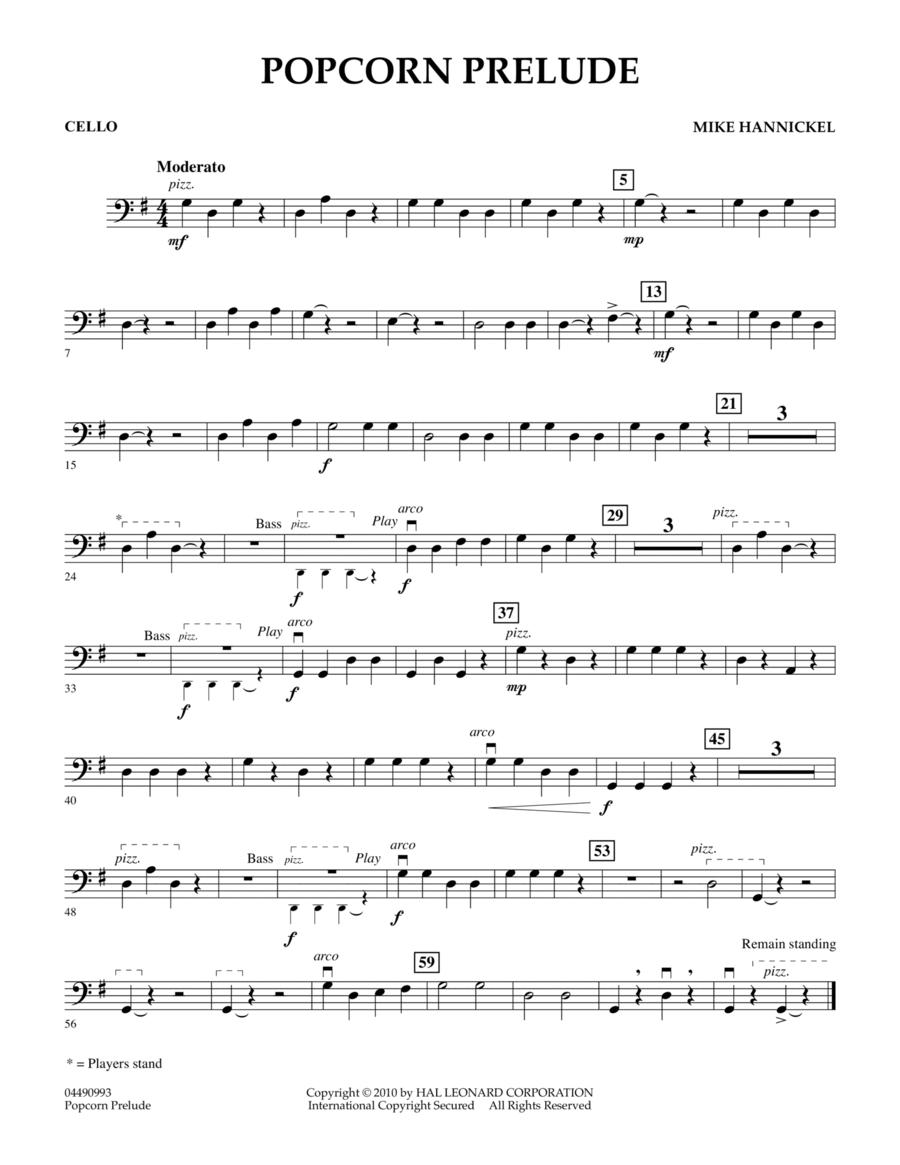 Popcorn Prelude - Cello