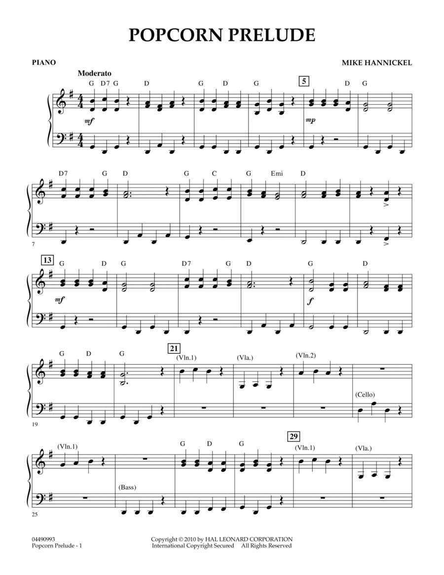 Popcorn Prelude - Piano