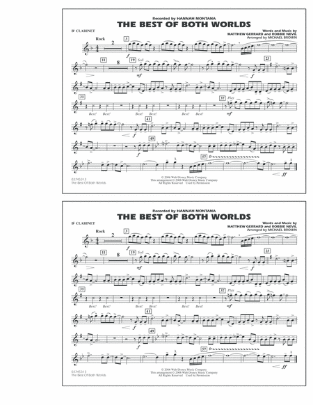 The Best Of Both Worlds - Bb Clarinet