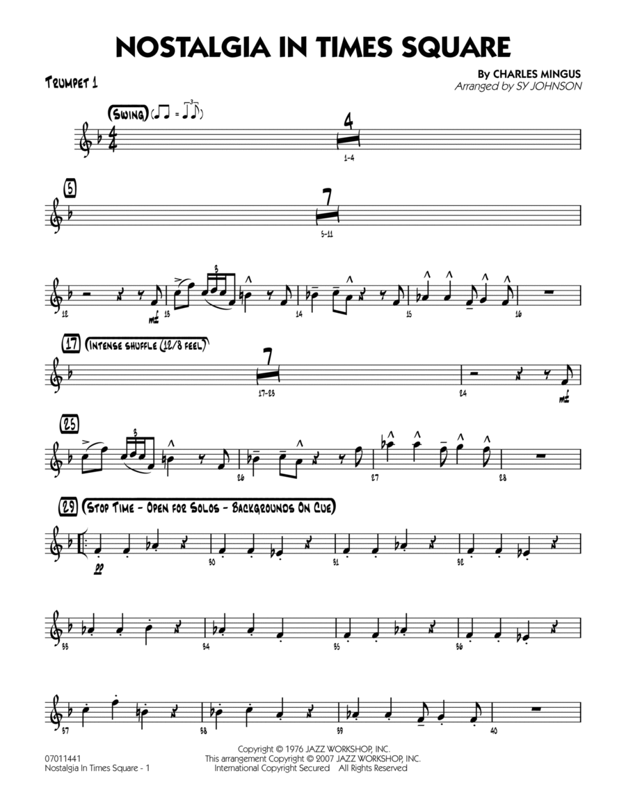 Nostalgia In Times Square - Trumpet 1