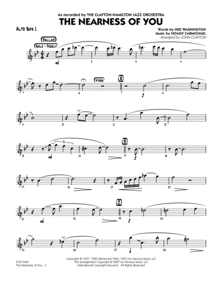 the nearness of you sheet music pdf