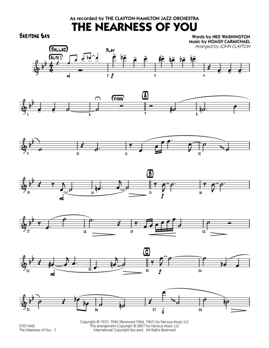 The Nearness Of You - Baritone Sax