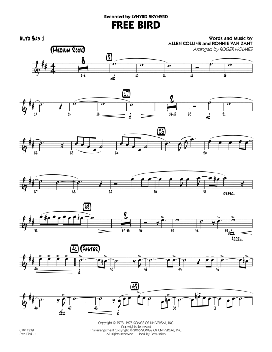 Free Bird - Alto Sax 1