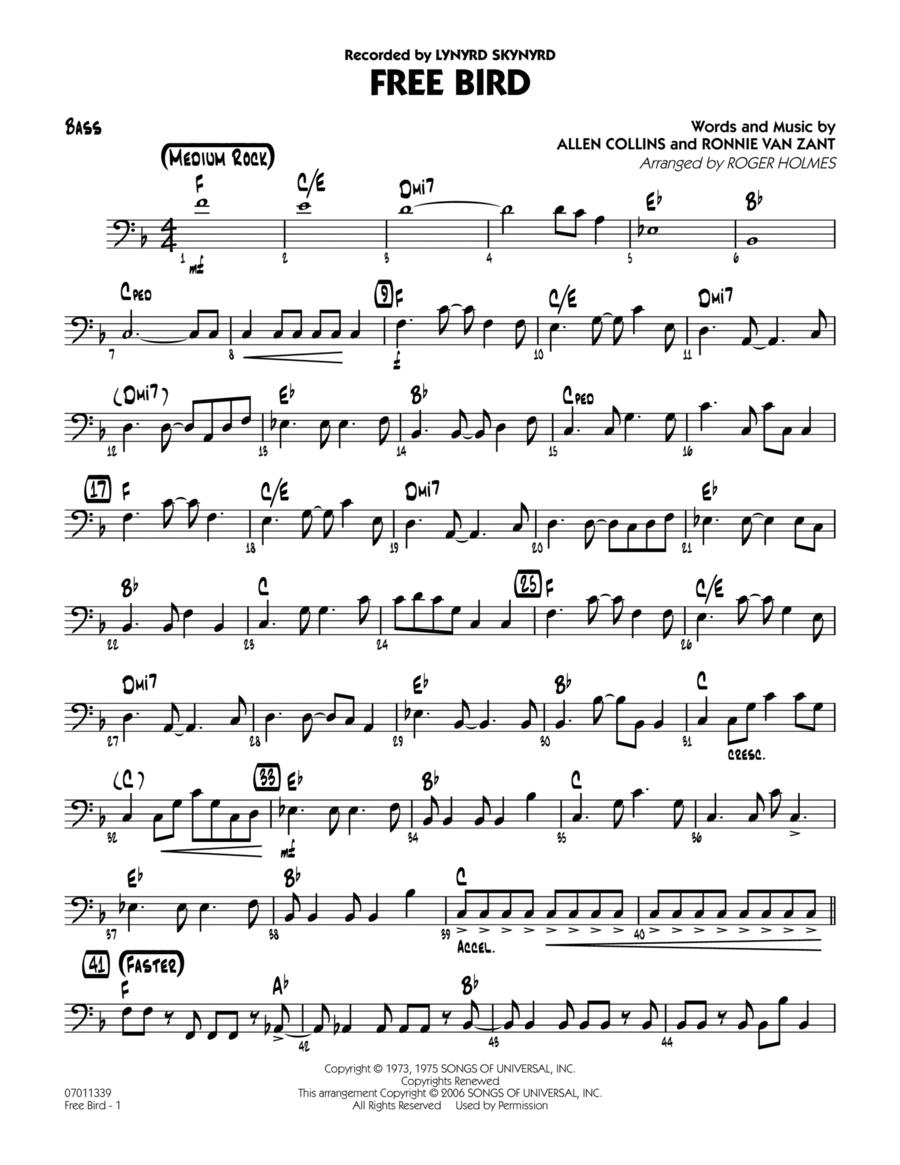 download free bird bass sheet music by lynyrd skynyrd sheet music plus. Black Bedroom Furniture Sets. Home Design Ideas