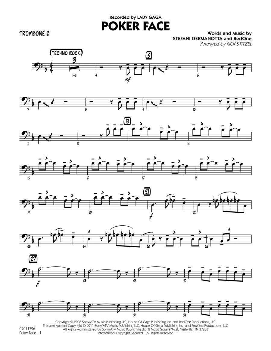 Poker Face - Trombone 2