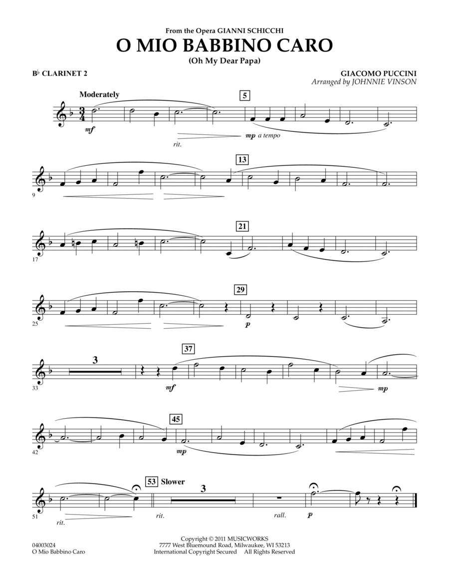 O Mio Babbino Caro - Bb Clarinet 2