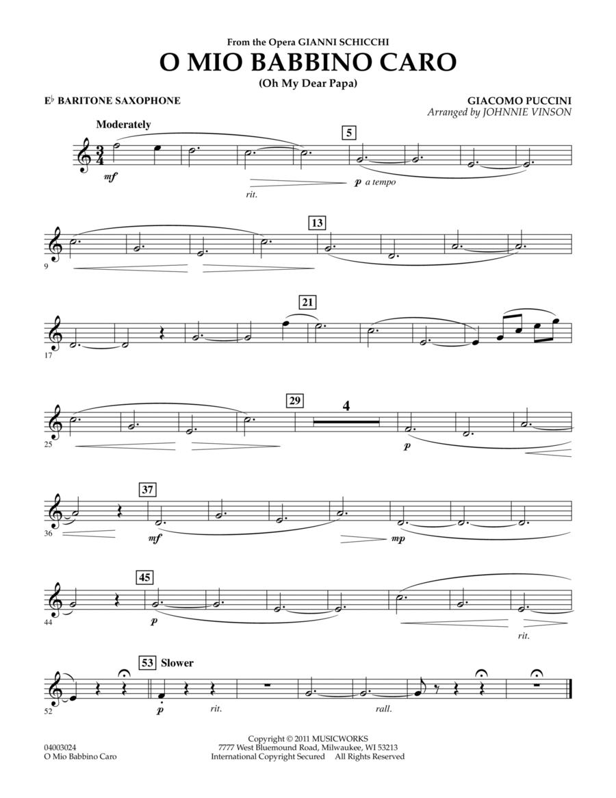 O Mio Babbino Caro - Eb Baritone Saxophone