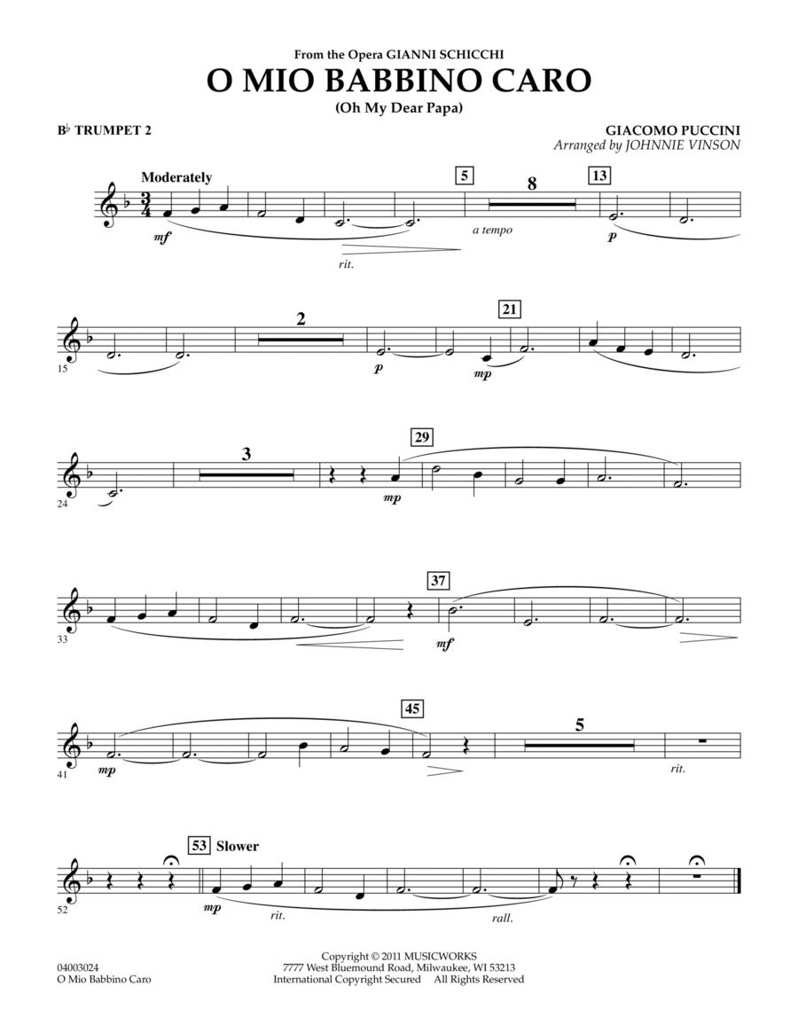 O Mio Babbino Caro - Bb Trumpet 2