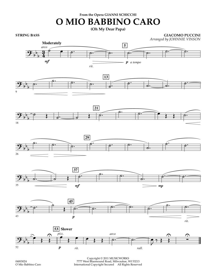 O Mio Babbino Caro - String Bass