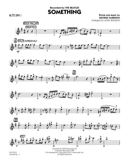 Something - Alto Sax 1