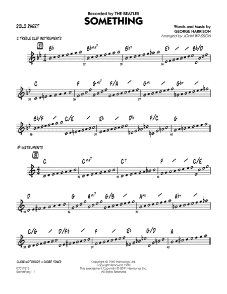 Something - Solo Sheet