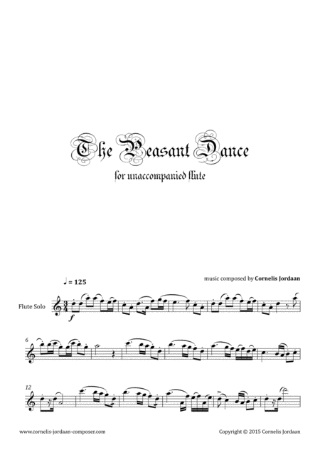 The Peasant Dance, for unaccompanied flute