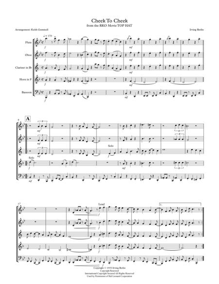Cheek To Cheek: Woodwind Quintet