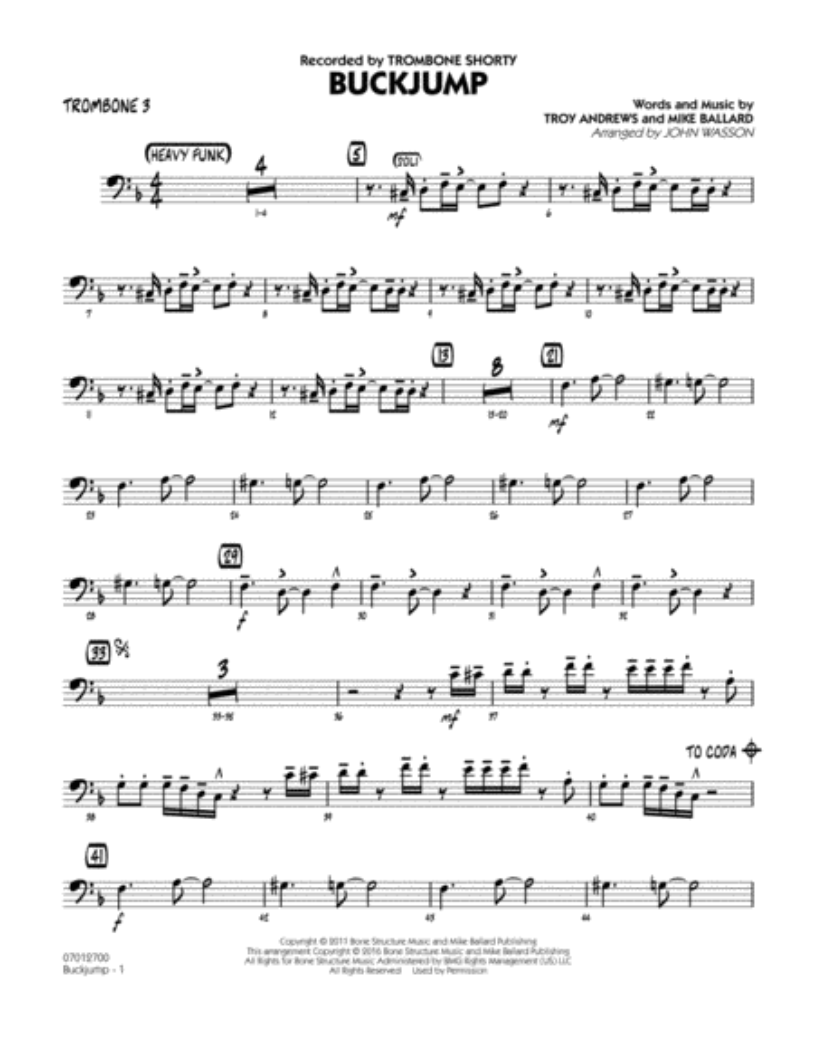 Buckjump - Trombone 3