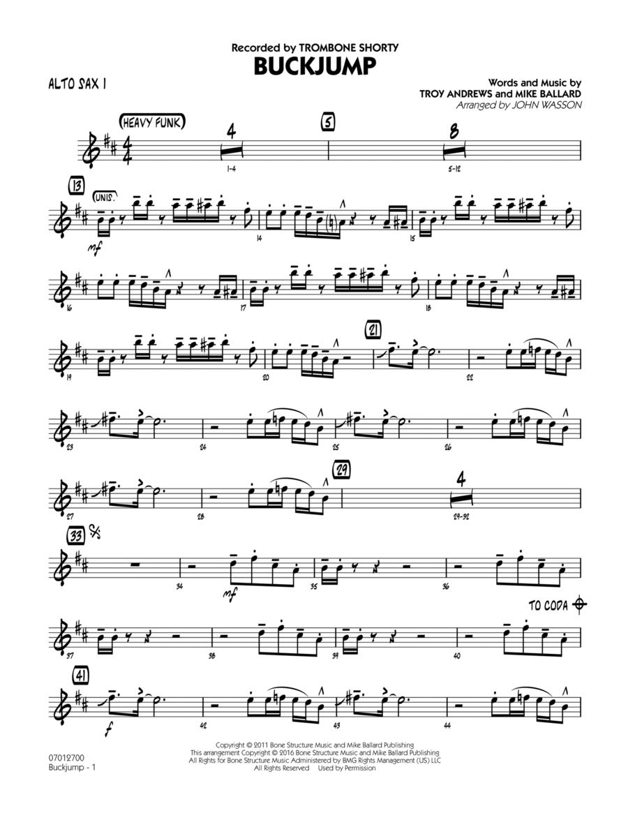 Buckjump - Alto Sax 1