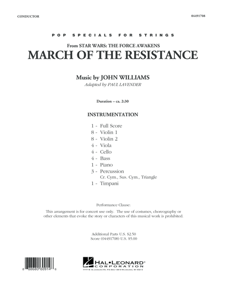 March of the Resistance (from Star Wars: The Force Awakens) - Conductor Score (Full Score)