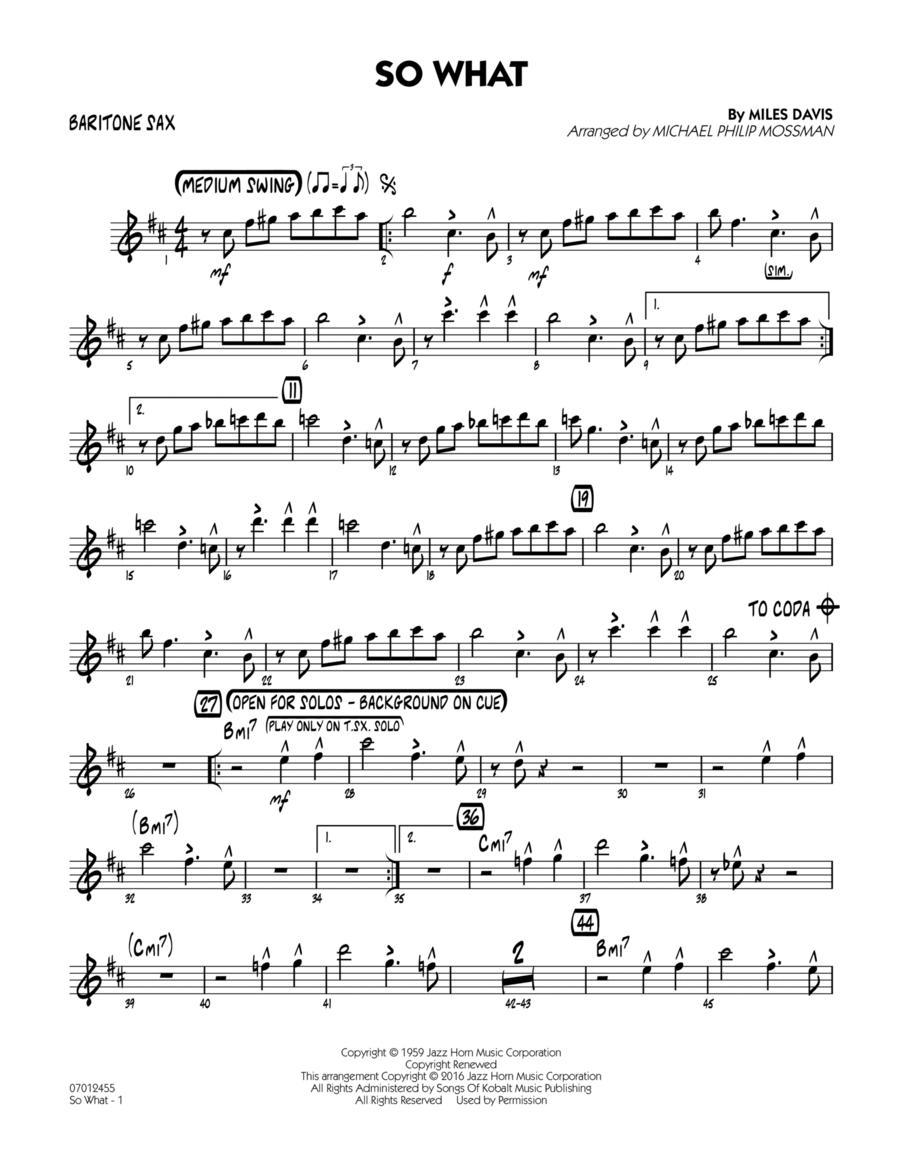 So What - Baritone Sax