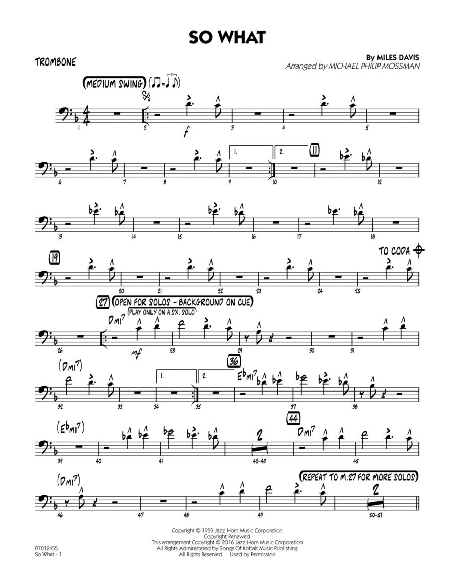 So What - Trombone