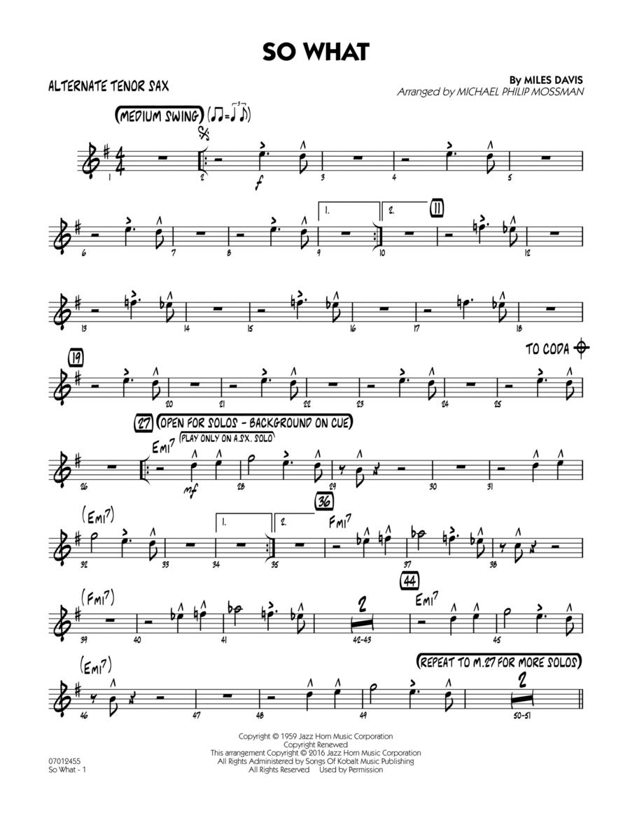 So What - Alternate Tenor Sax