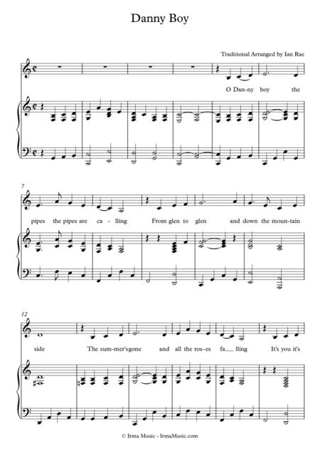 Danny Boy - Vocal Arrangement