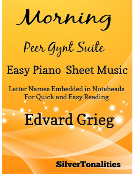 Morning Peer Gynt Suite Easy Piano Sheet Music