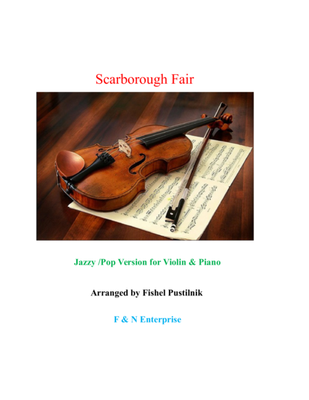 Scarborough Fair-Jazzy/Pop Version (Violin+Piano)